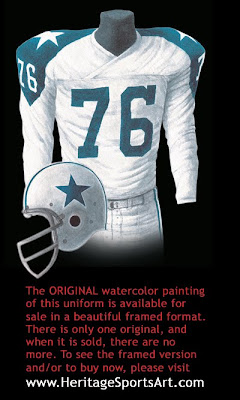Dallas Cowboys 1962 uniform