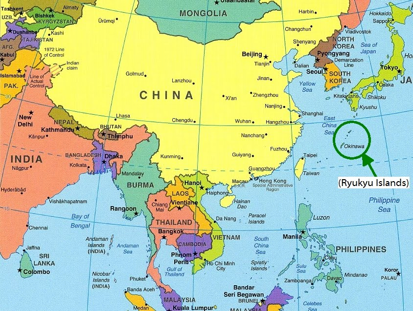 And the other to show where  Labeled Map Of Asia