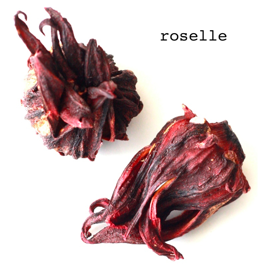 roselle herbal tea rich in vitamin c to fight cold