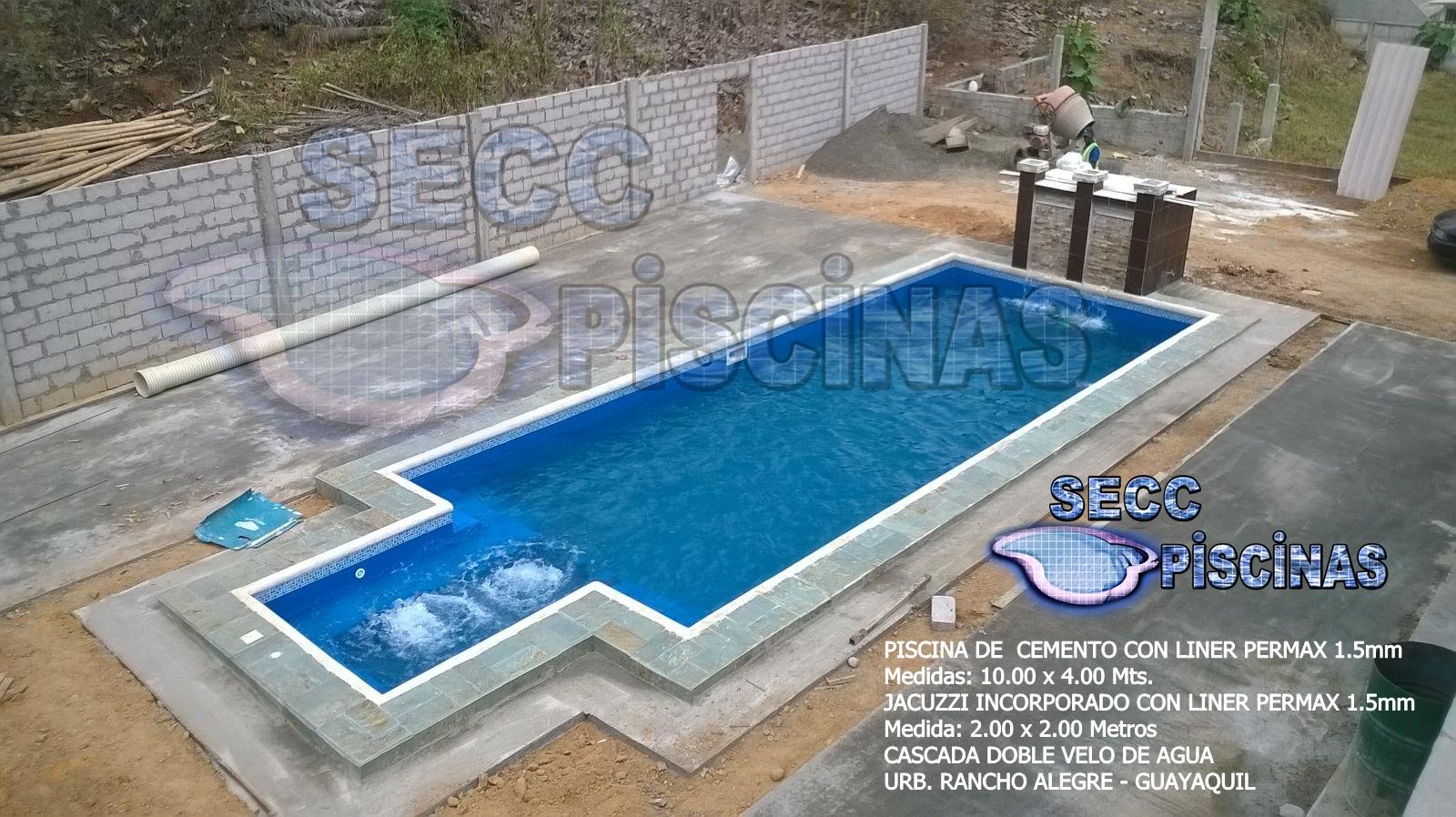 Secc piscinas piscinas con jacuzzi incorporado en liner for Piscinas jacuzzi