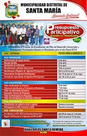 Presupuesto Participativo 2014 en Santa María