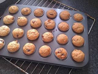 Cherry and Marmalade Muffins