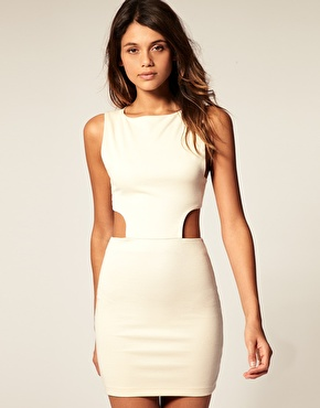 Vestido blanco muy ajustado