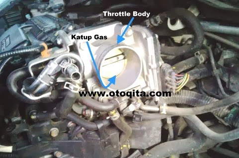 Membersihkan throttle body honda jazz rs 2009