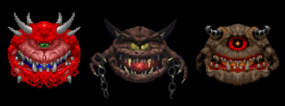 Variantes del cacodemon para Savage Doom. Y faltan.