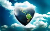 papel de parede coração terra