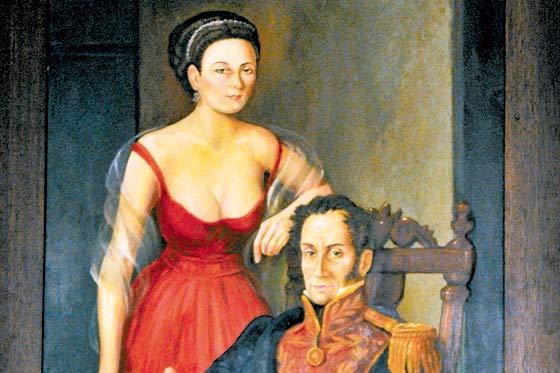 Desde entonces  entre ellibertador Sim  243 n Bol  237 var y Manuela Saez    Simon Bolivar Wife