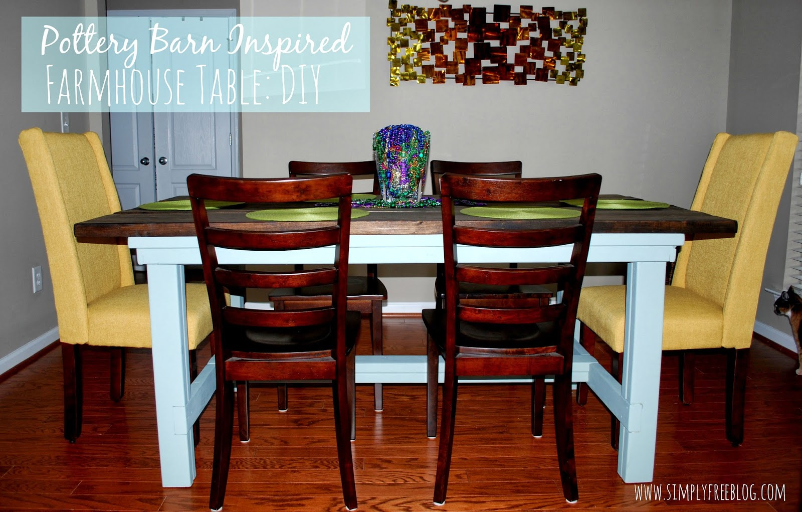 pottery barn inspired farmhouse table diy simply elliott diy