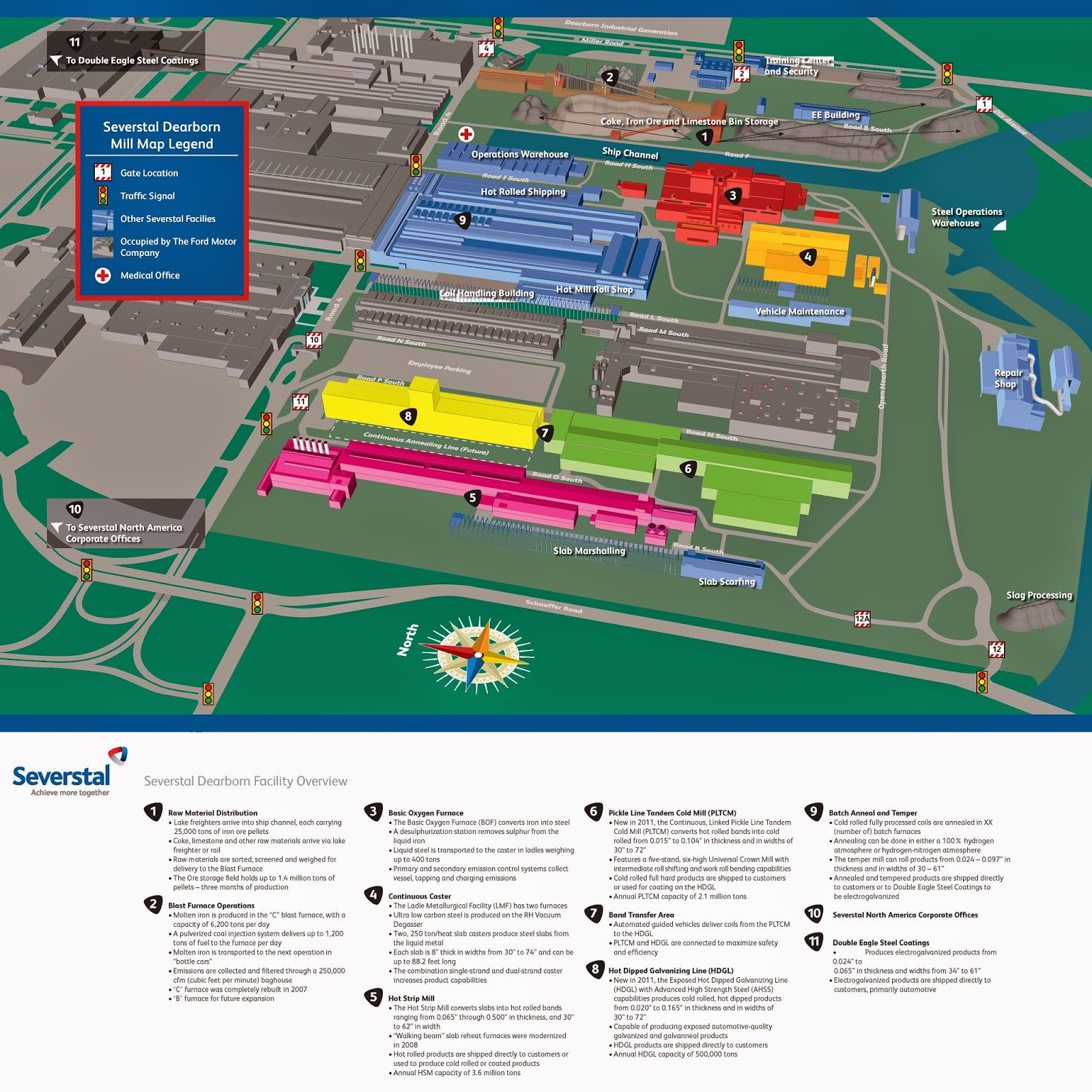 Ford Rouge Plant Map >> Letters from a Farmer in Ohio: Historic Rouge Steel Mill Sees New Owner