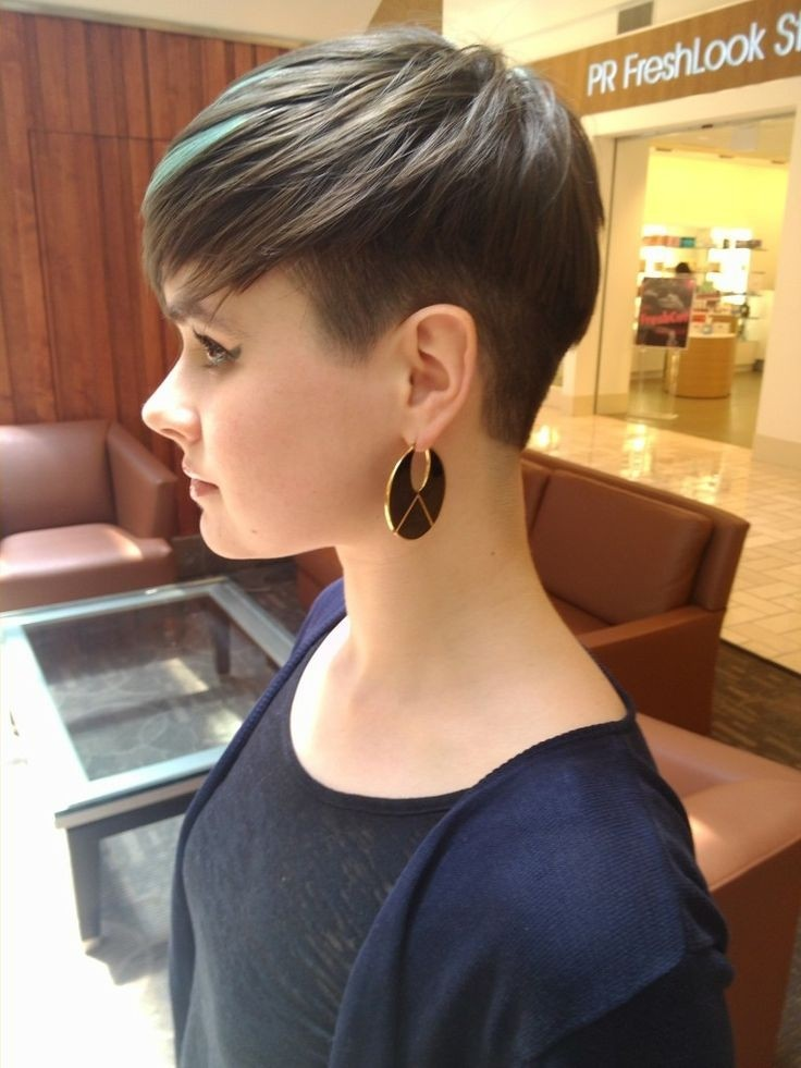 Women Best Shaved Hairstyles 2015 Short Shaved Haircut Ladies New