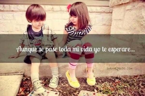 Imagenes de niños con frases para compartir en facebook  - Imagenes De Amor De Niños Con Frases