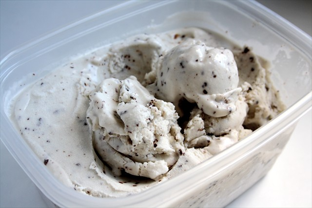 Dairy-Free Mint Chocolate Chip Ice Cream Butter with a side of Bread
