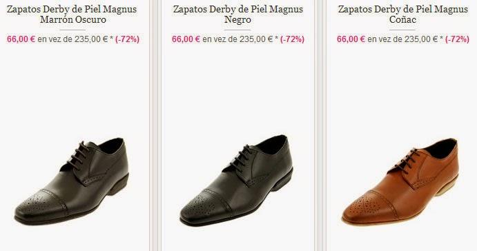 Ejemplos de Zapatos derbies de piel de Ramosport