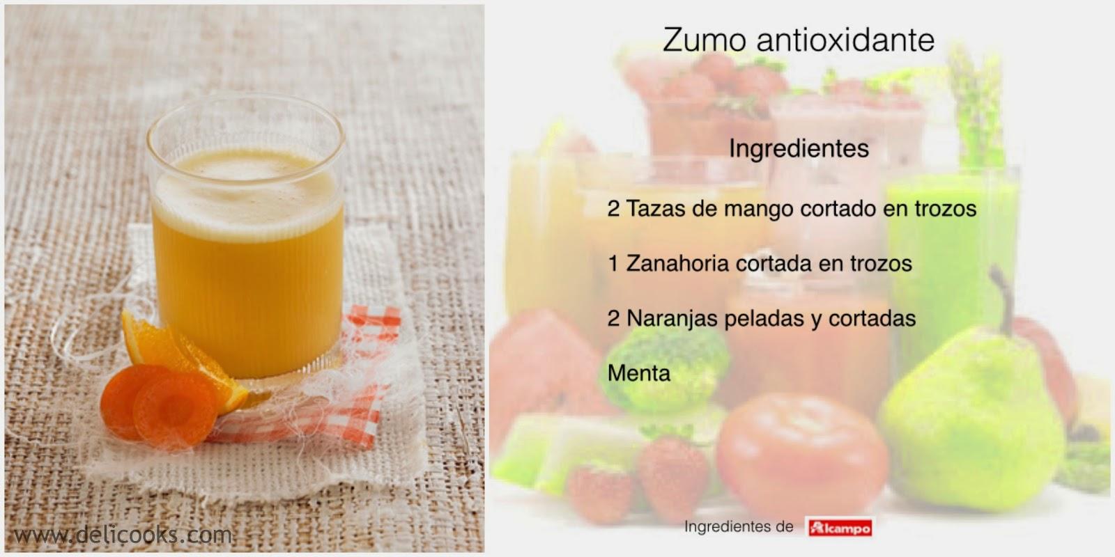 Zumo Antioxidante Mango