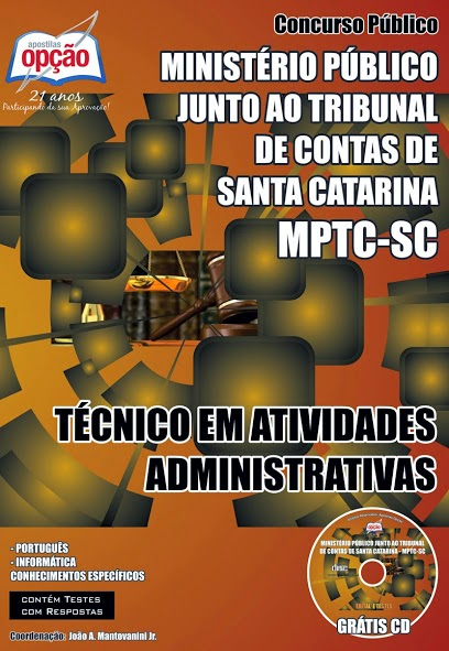Apostila Ministério Público  Junto ao Tribunal de Contas de Santa Catarina Concurso 2014.