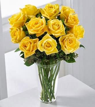 rangkaian mawar kuning permintaan maaf