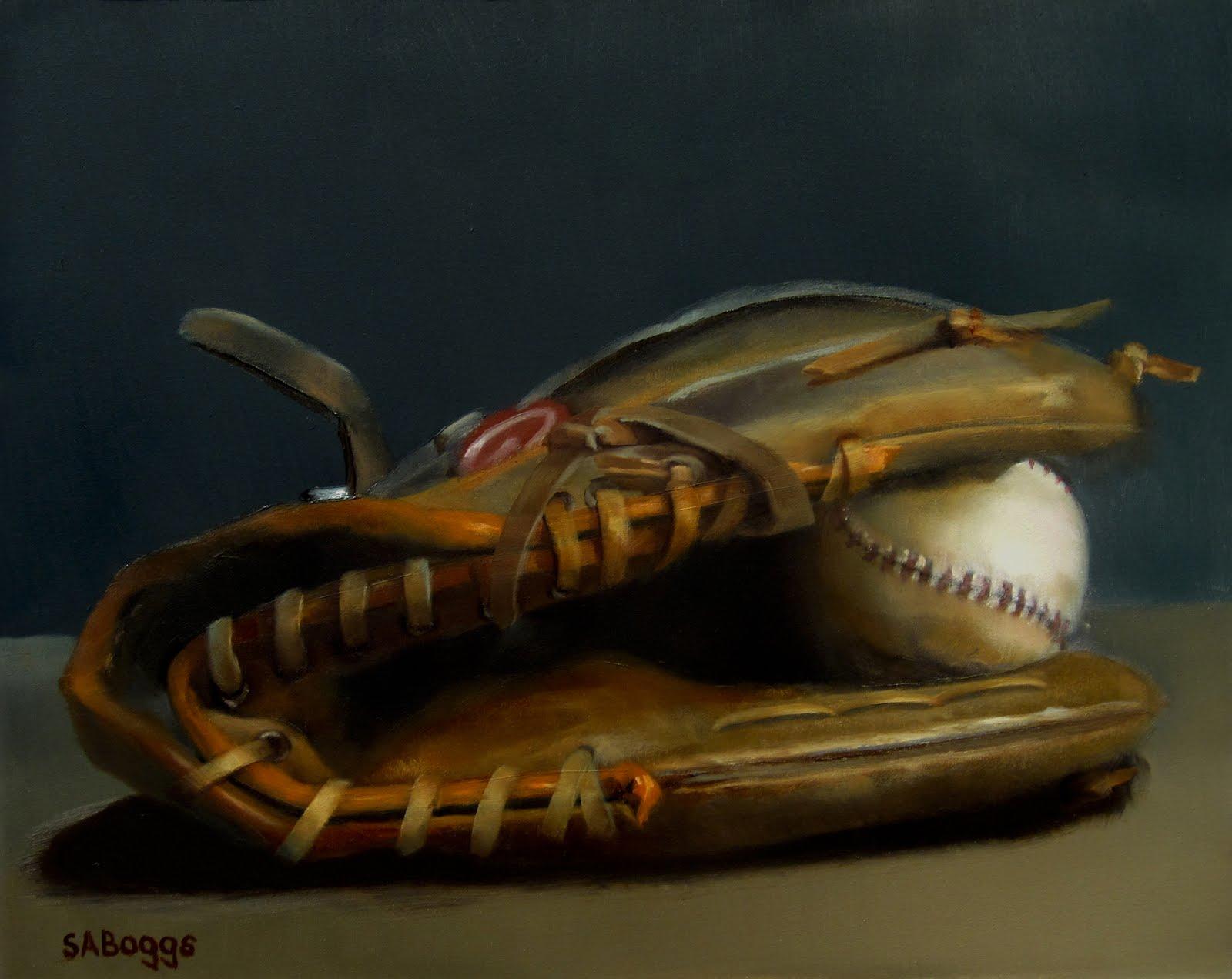 Baseball Glove Paint : The artwork of steven allen boggs daily painting still