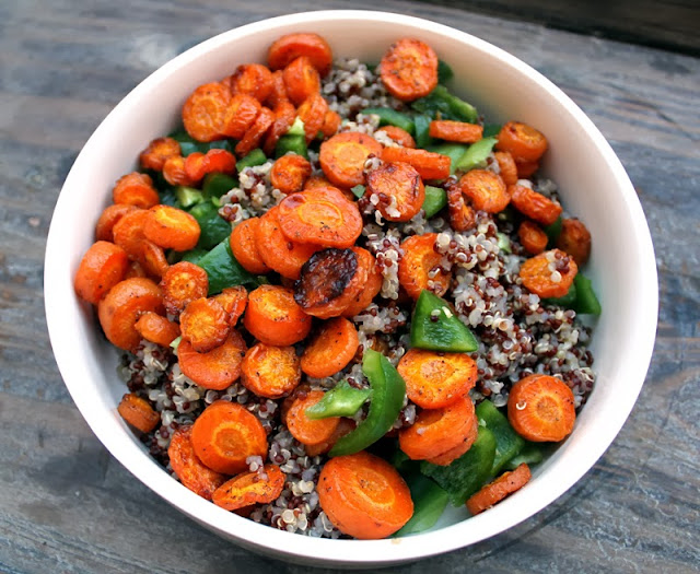 Oppskrift Bakt Gulrot Quinoa Gulrotsalat Quinoasalat Tilbehør