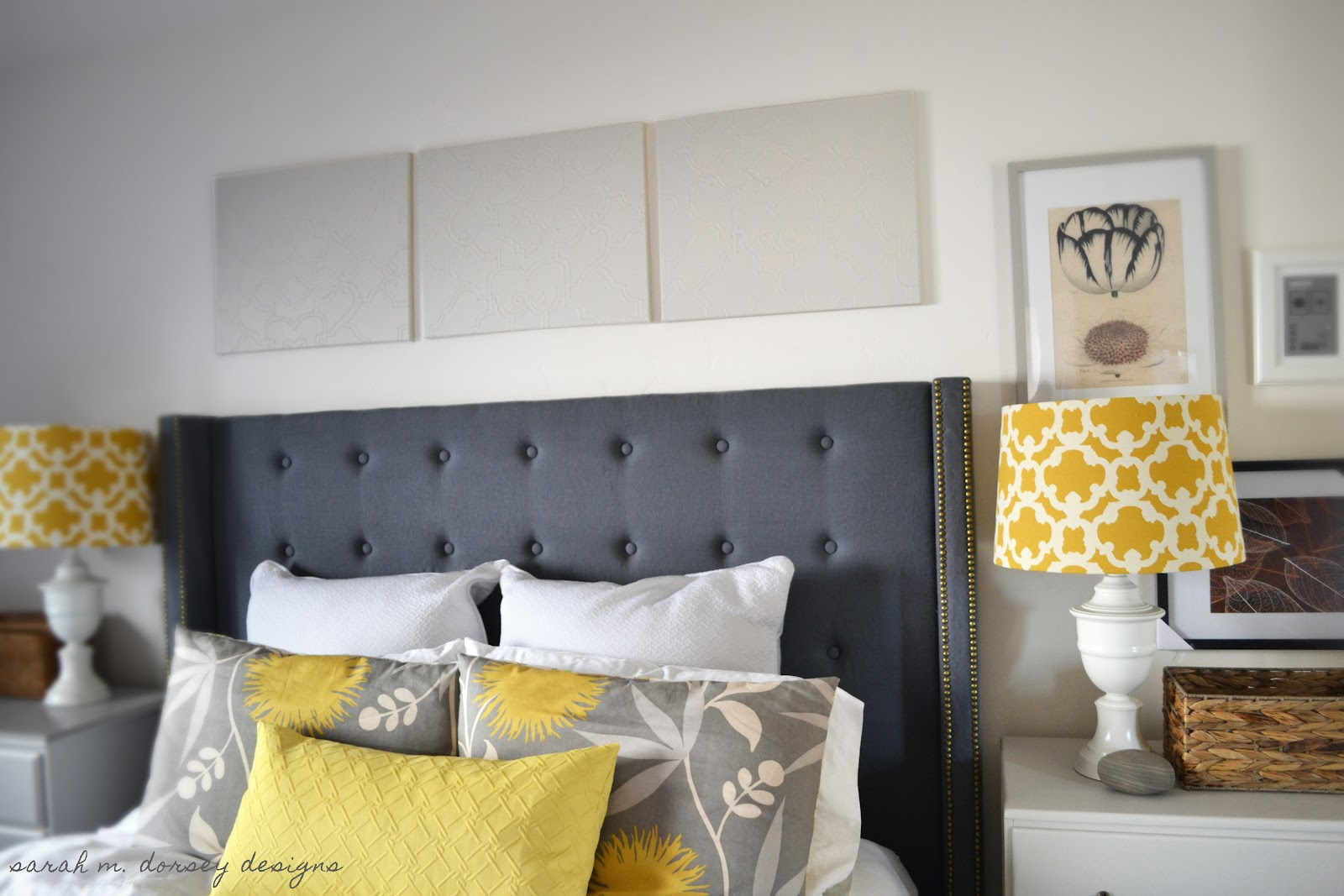 Sarah m dorsey designs painted puffy paint design canvas for Painted on headboard