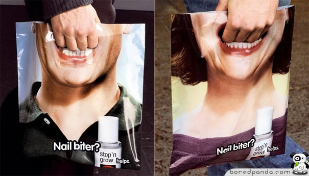 Hand in mouth Plastic Bag