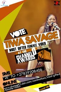 Vote Tiwa Savage Most Gifted Female Video - Channel O Awards