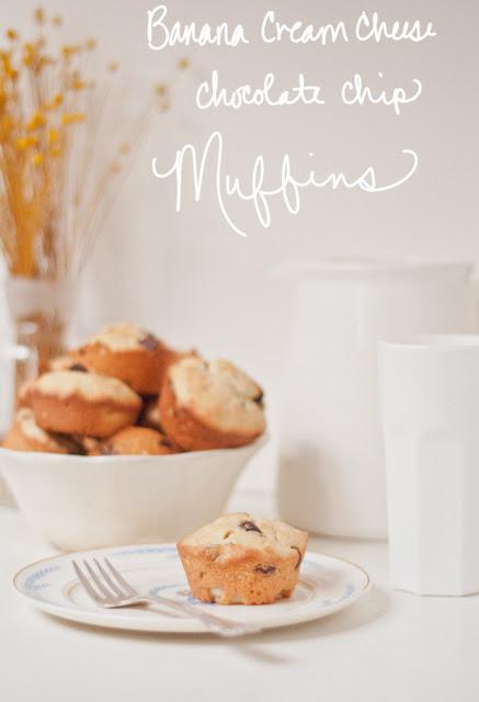 banana cream cheese chocolate chip muffins recipe