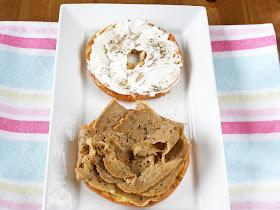 Vegan Butter Grilled Turkey and Mustard Bagel