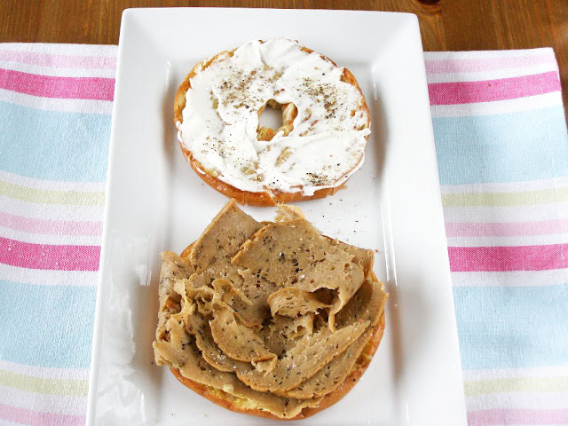 Vegan Butter Grilled Turkey and Mustard Bagel
