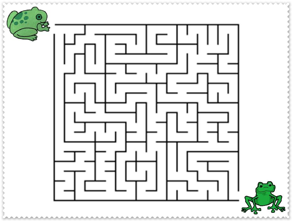 Kinder123 - Spiel und Spass: Frosch - Labyrinth