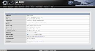 Web interface NAS4Free