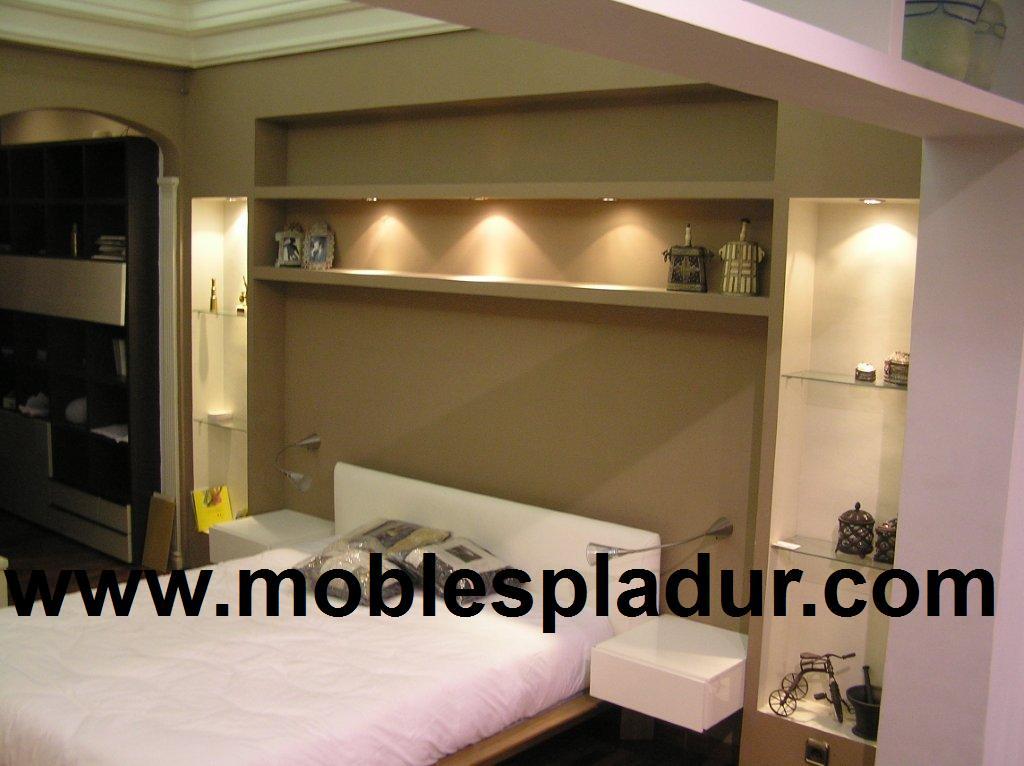 Pladur barcelona montajes y dise os de pladur - Muebles de pladur para salon ...