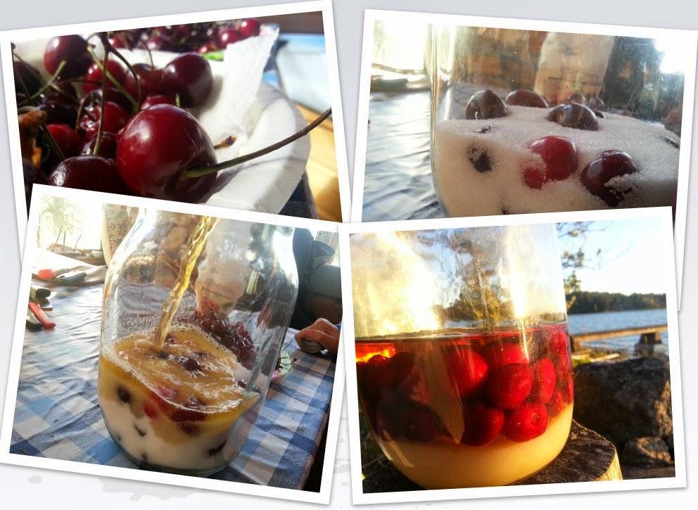 Rompotti - hedelmiä rommiliemessä