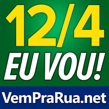Foto de perfil do facebook 'vem pra rua' verde oliva fora pt e dilma lula