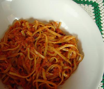 salsa de zanahoria y pimiento
