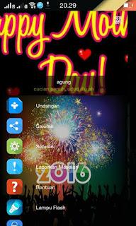 "BBM MOD Tema 2016 Versi Terbaru ""Happy New Years"""