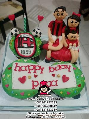 Cupcake AC Milan Tema Keluarga