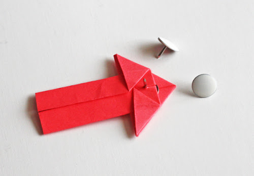 DIY origami arrow pins