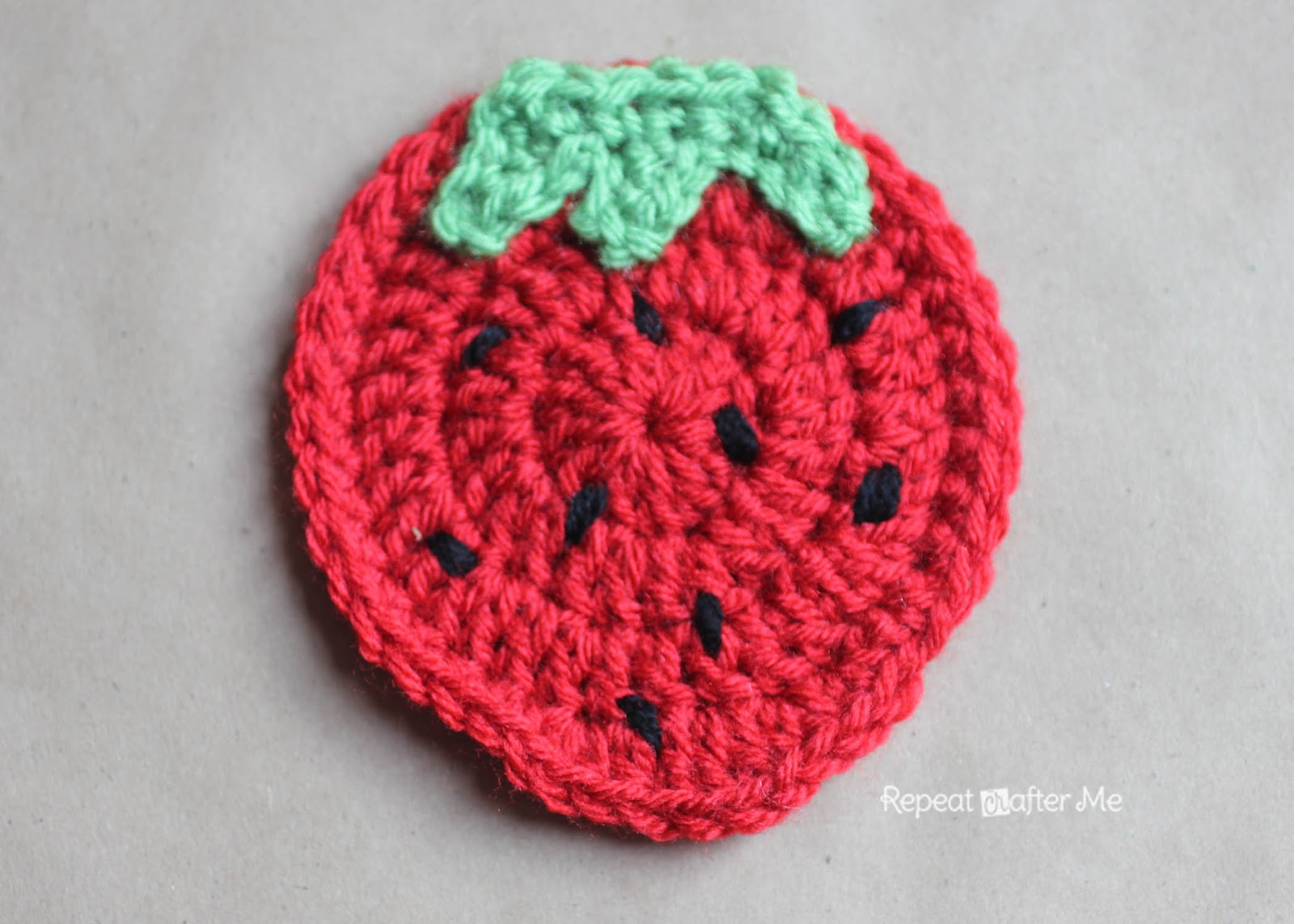 Crochet Fruit Coasters Free Pattern : Crochet Fruit Coasters Pattern - Repeat Crafter Me