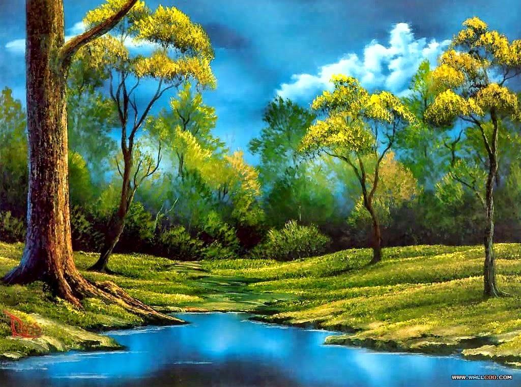 Im genes arte pinturas varios modelos de paisajes sencillos para pintar al leo - Como pintar cuadros faciles ...