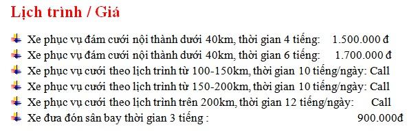 Bảng giá Cho thuê xe 16 chỗ Ford Transit tại Hà Nội
