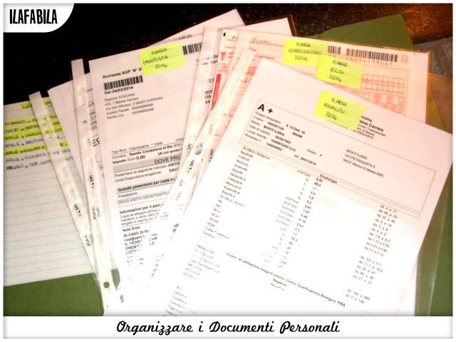 Organizzare i documenti Personali - Salute