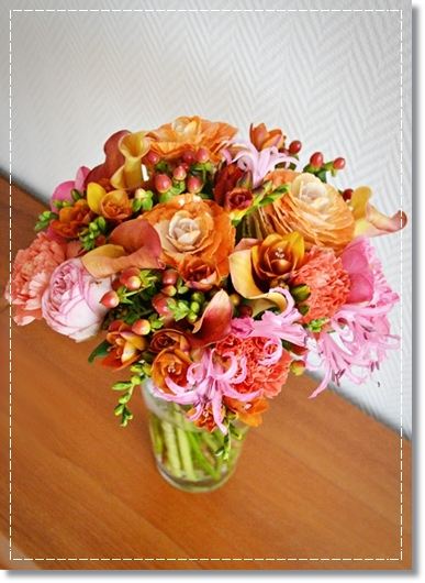färgsprakande bukett, färgglad bukett, colourful bouquet