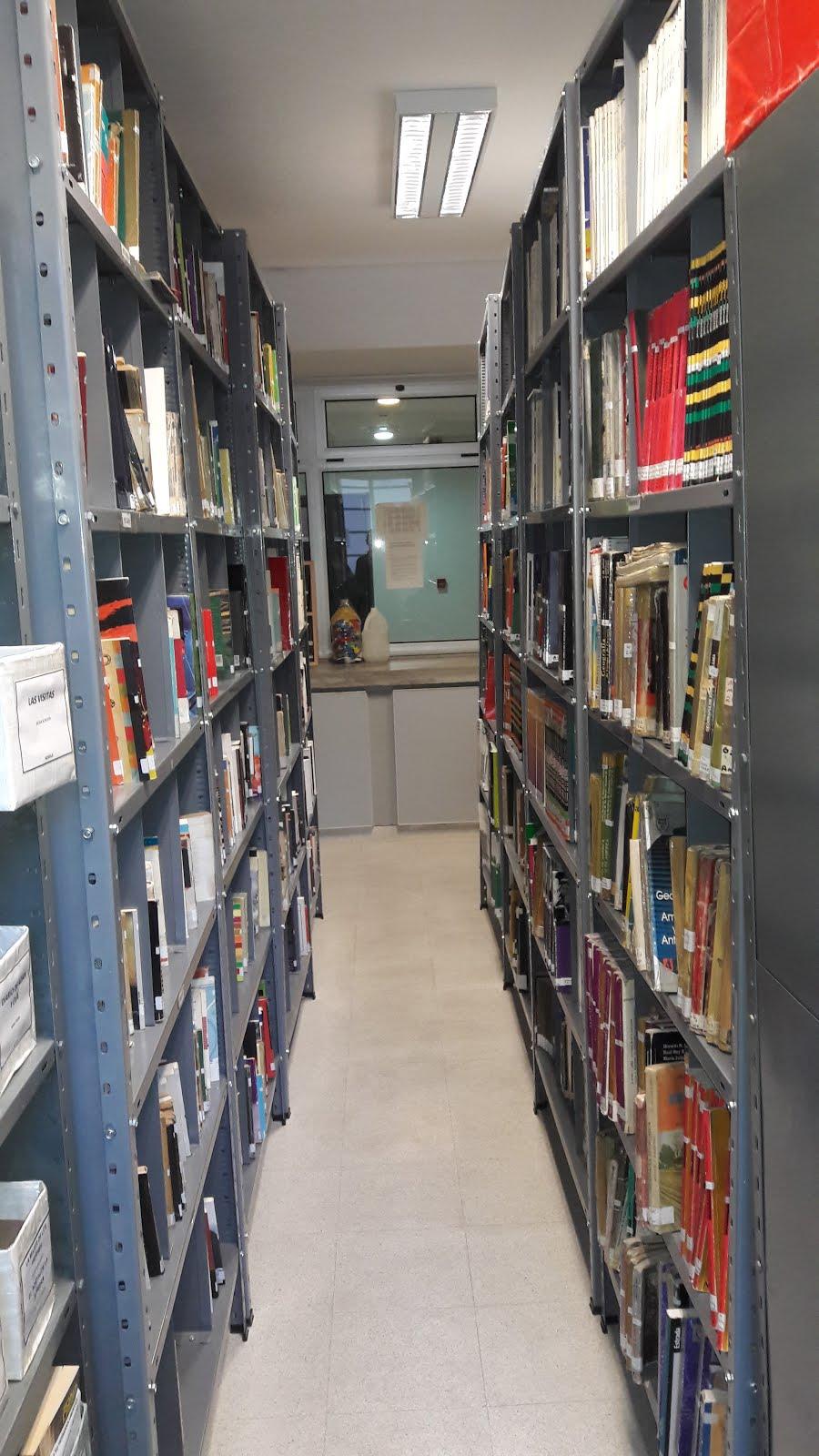 Biblioteca estanterías y anaqueles