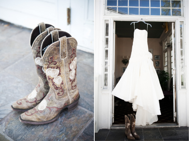 Wedding Dress With Cowboy Boots