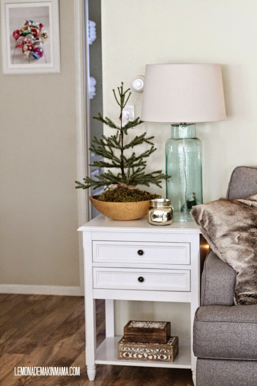 simple, natural small space Christmas