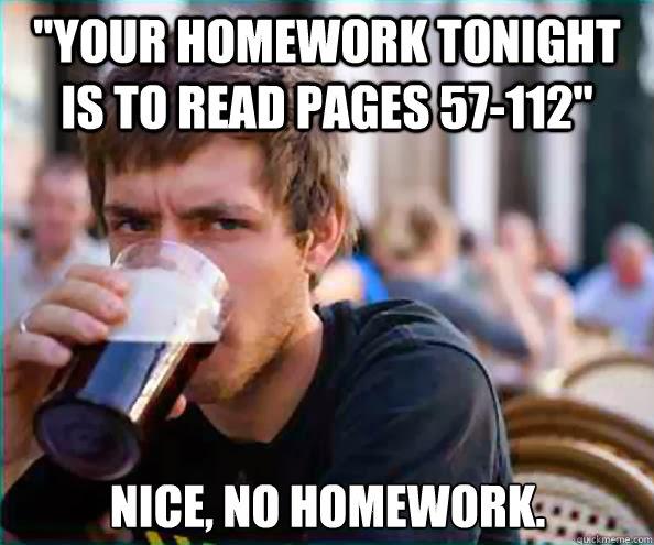 Too much homework high school