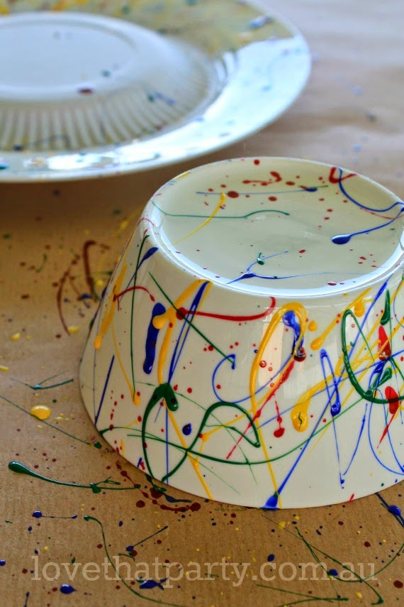 diy, kids party ideas, art party, cake stand, tutorial, art party ideas, nail polish craft, kids party ideas