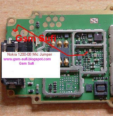 Nokia 1200-1208 Mic-microphones ways problem