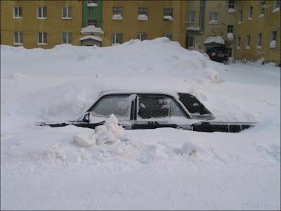 Salji Tebal Yang Melanda Siberia