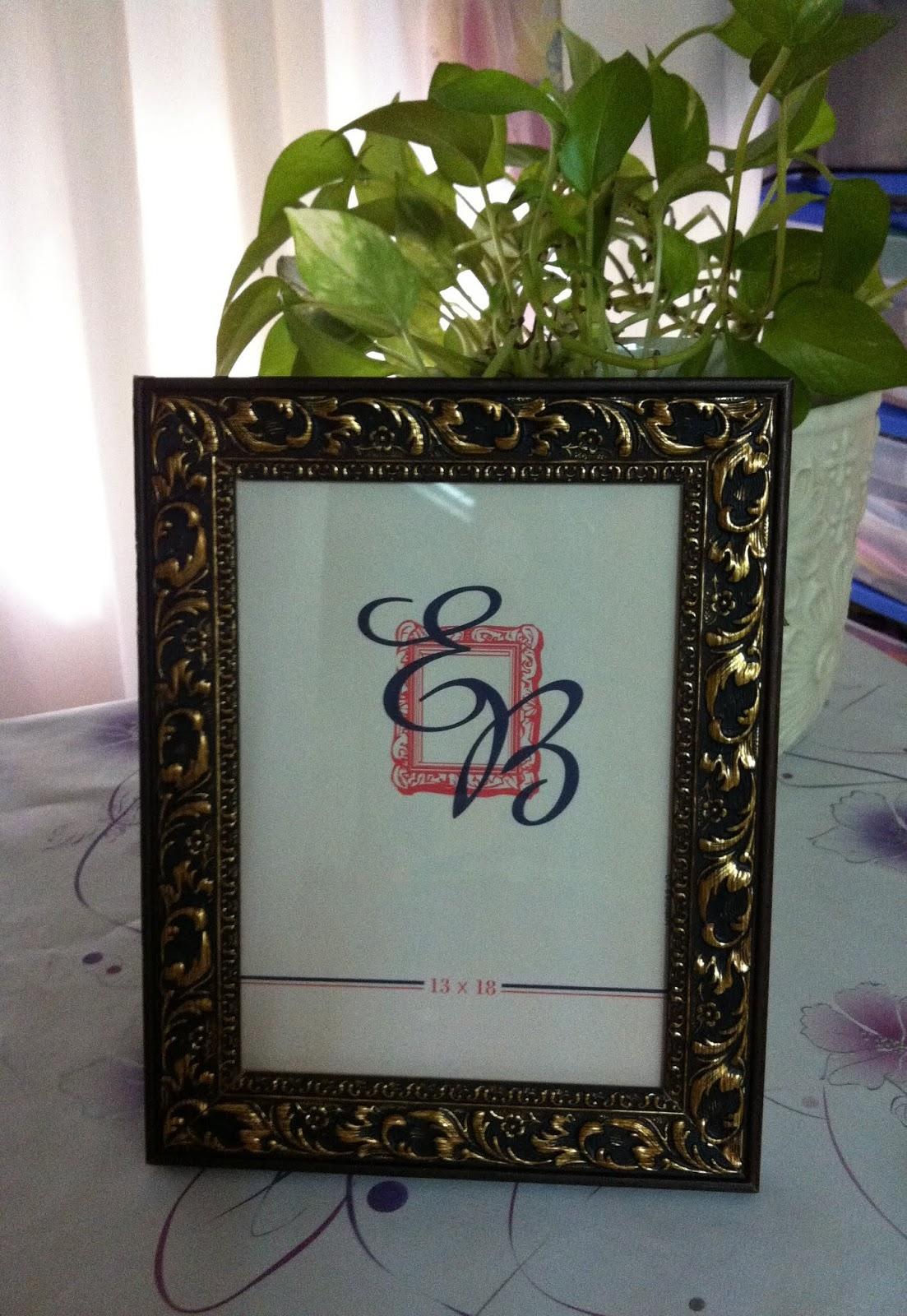 Las Manualidades de Yiya: Enmarcando las arras de mi boda.